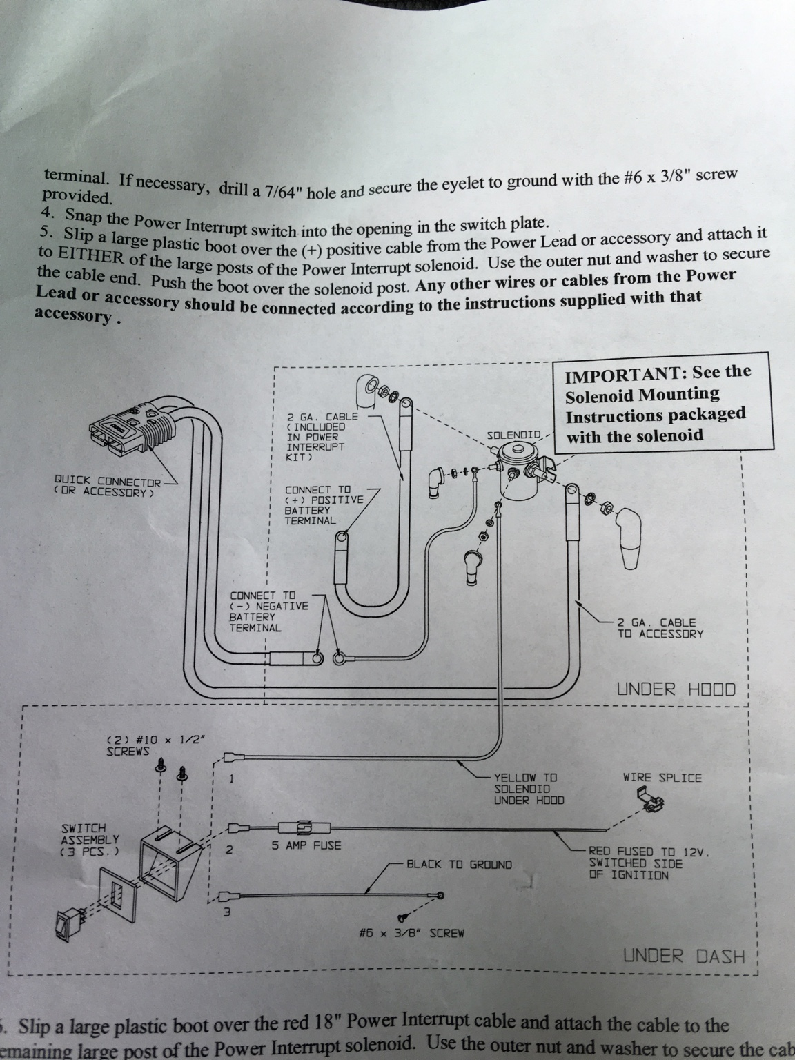 Advice For Wiring A Warn Quick Connect Winch Harness Toyota 5 Wire Control Diagram I Have The Solenoid Mounted And Harnesses Connected