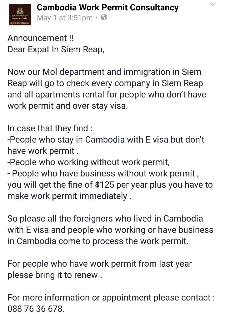 Cambodia Work Permit Consultancy: All Foreigners With an