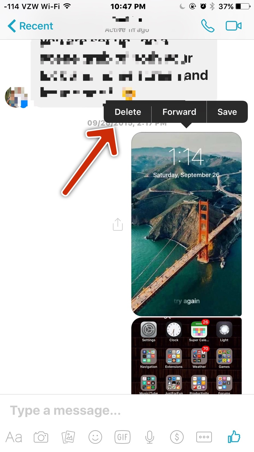 how to send photoes in facebook messenger