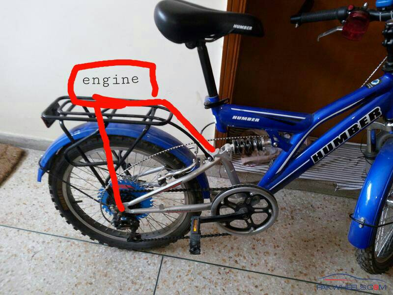 Guidance needed for fitting engine to bicycle - 419322767cfcd5e36cf0e165b7830b7c