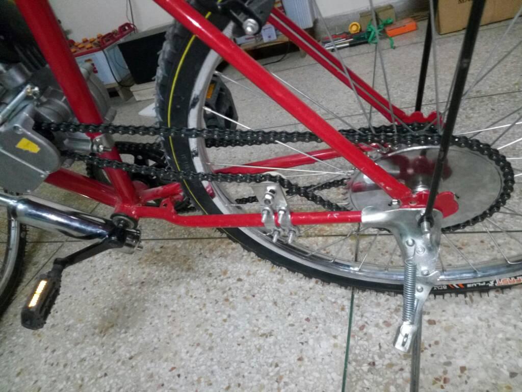 50cc engine with bicycle. Rs 12K cost - 051c637774d3b8174a626d57cb14d683