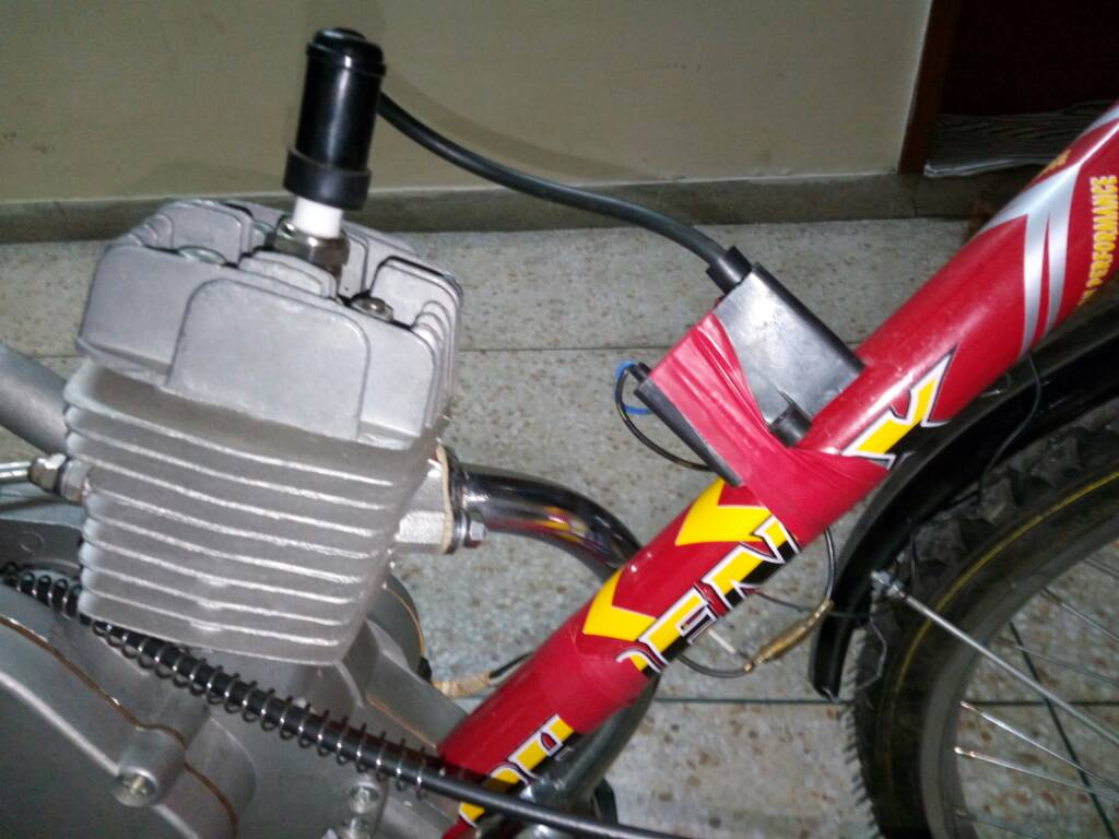 50cc engine with bicycle. Rs 12K cost - 8f1bffcc53d2a9c4aff4e9bdecbe60e2
