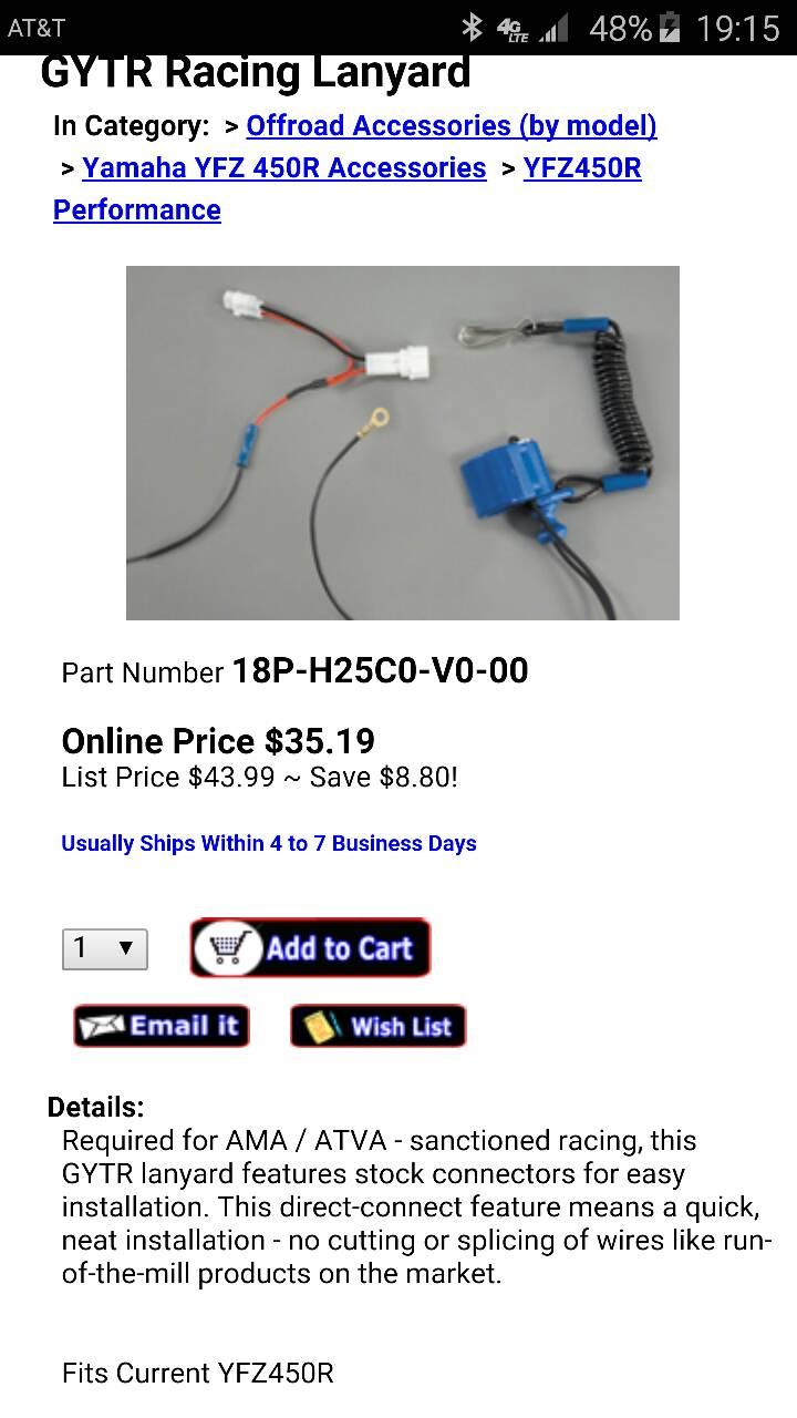Best Tether Kill Switch Yamaha Yfz450 Forum Yfz450r Yfz 450r Wiring Diagram Sent From My Samsung Sm G890a Using Tapatalk