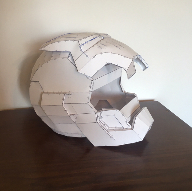 I Decided To Open This Thread Share With You My First Work Such As An Ironman Mark 42 Helmet Replica Here Some Photos Of Papercraft Model