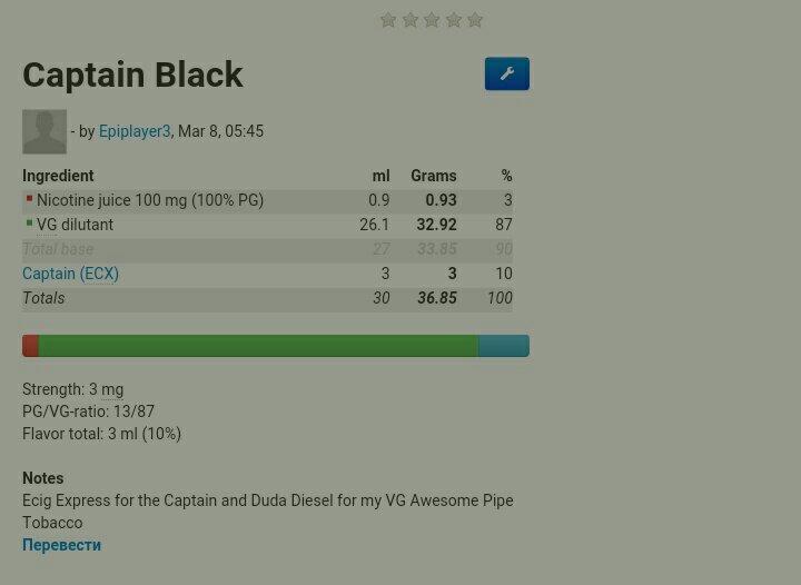 копия dekang africa blend (captain black) 404
