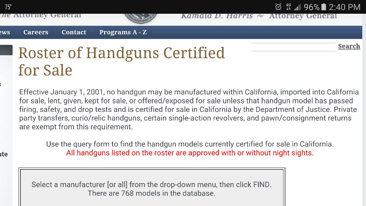 Joint residency and off roster handgun purchases registration pc hence my question about being able to transfer to a dealer as it is not a sale 1betcityfo Images