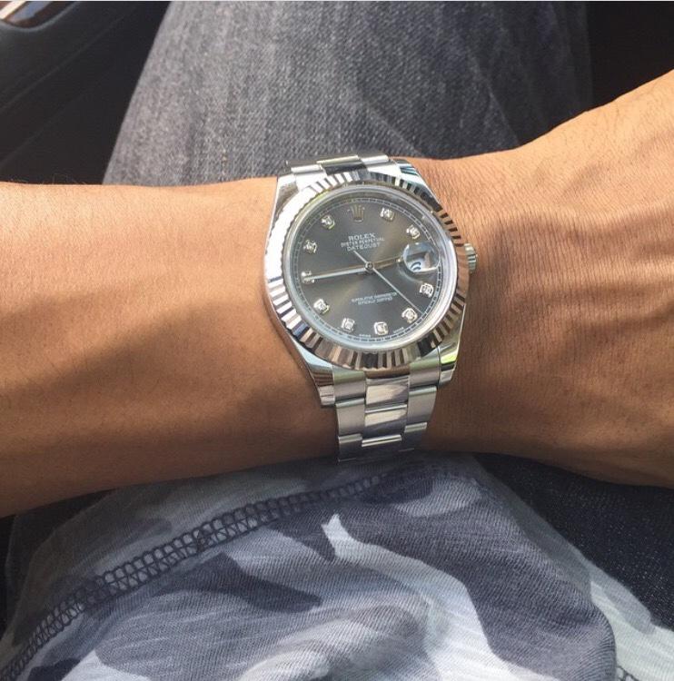 Rolex Datejust 41 Rhodium Dial