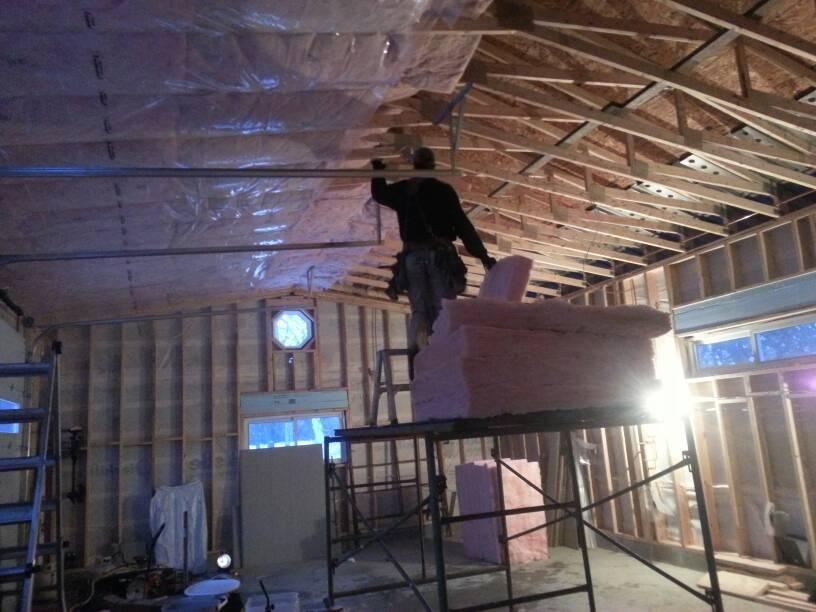 truss insulation vapor barrier scissor truss ceiling insulation the garage journal board