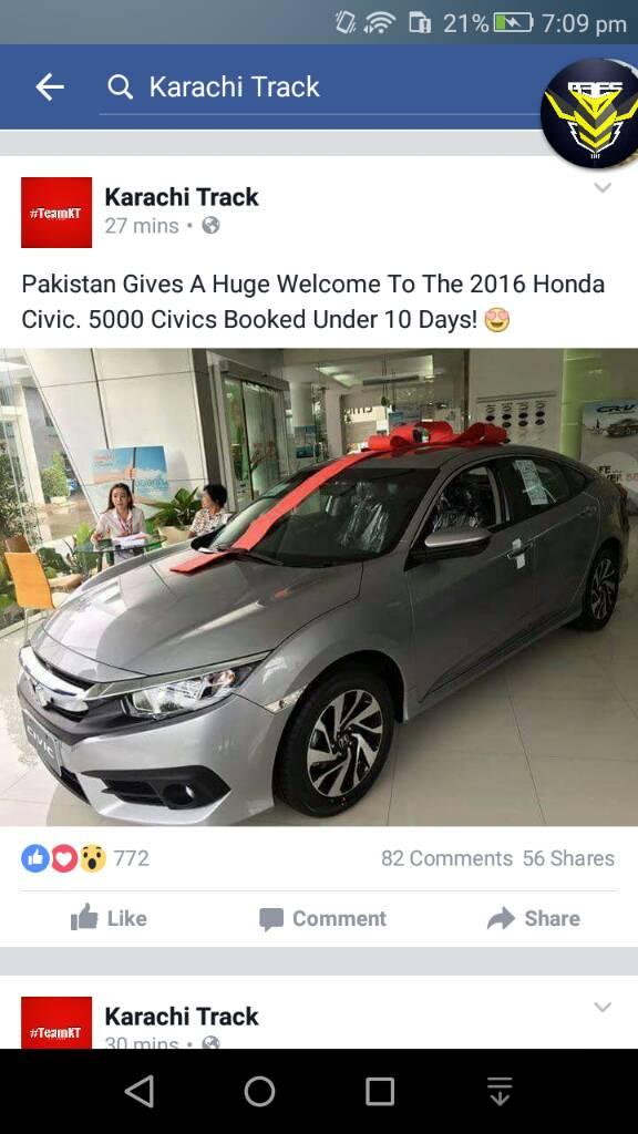 10th Generation Civic Exclusive Pakistan Launch - 305659d791ea9163fc064868c7fa3141