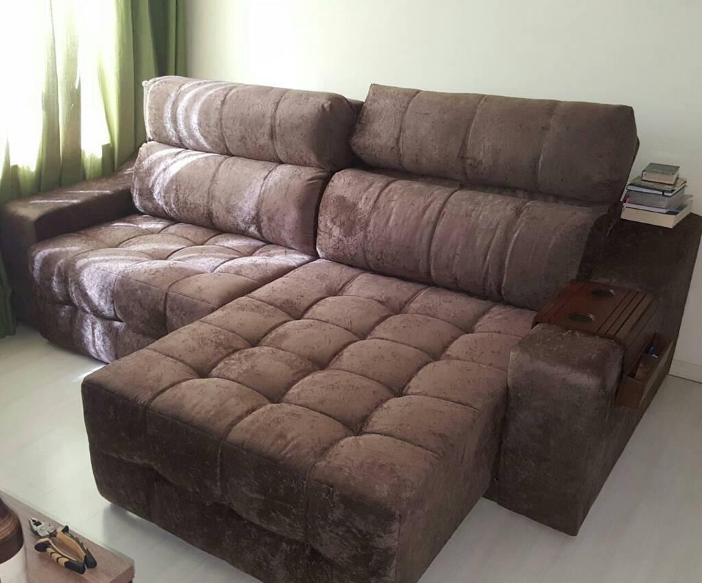 Sofa reclinavel retratil 4 lugares for Sofa 4 lugares retratil e reclinavel