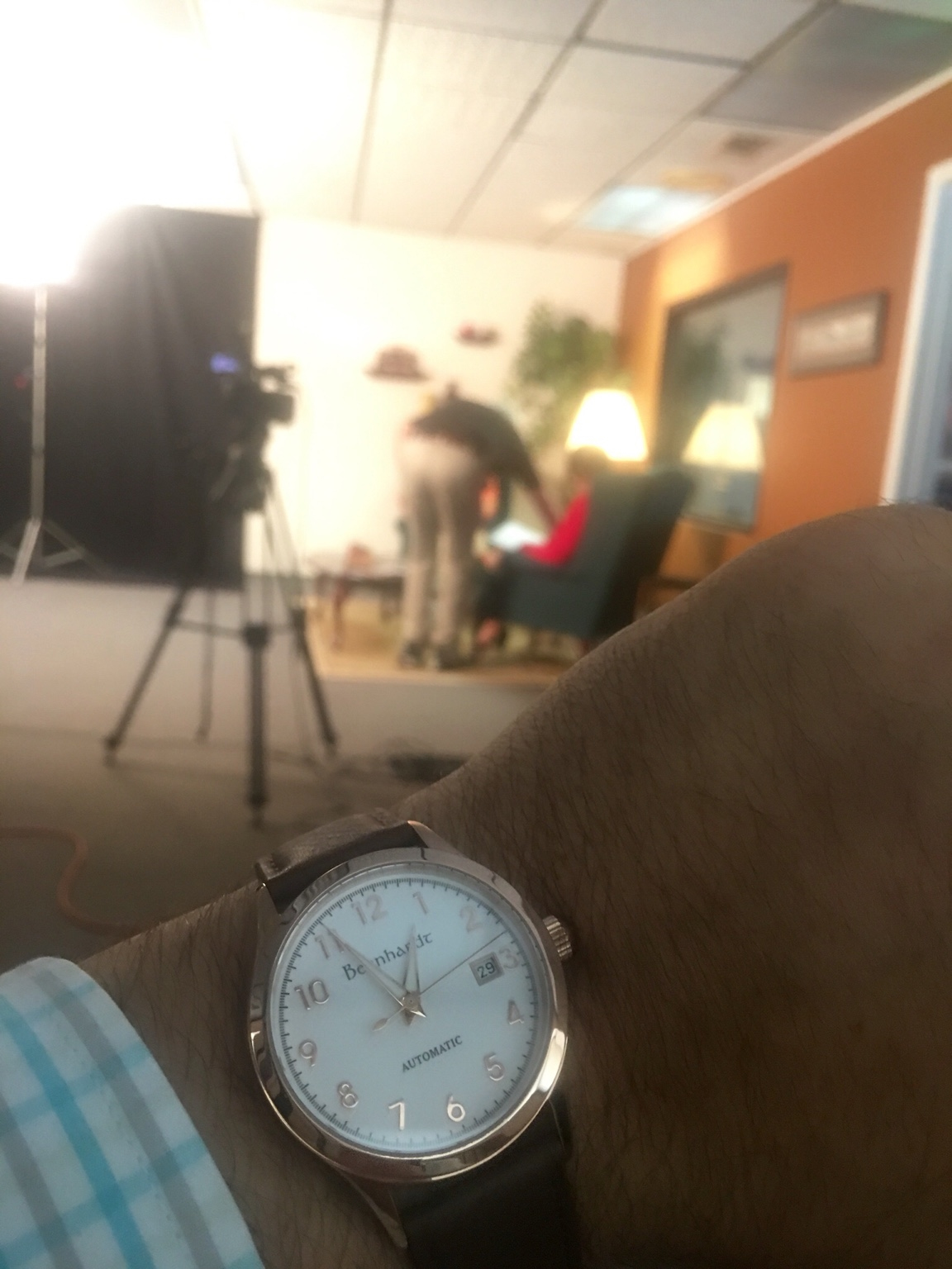 a925081d39 Going to be on local TV today, went with the Rose Gold Bernhardt Captains  watch today.