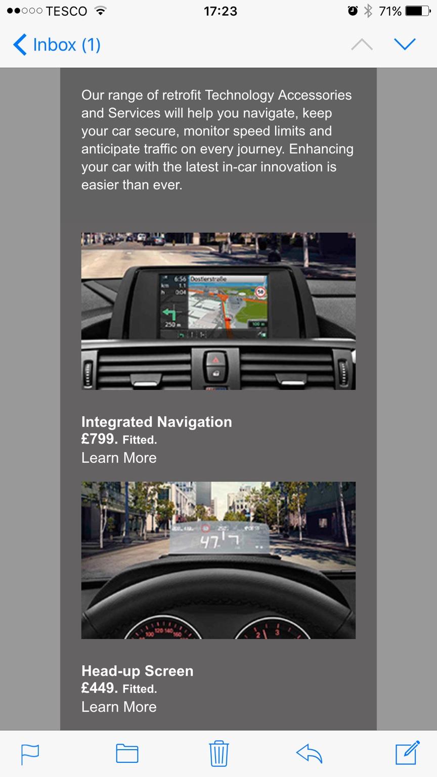 I didn't think BMW dealers did retrofits? - babybmw net