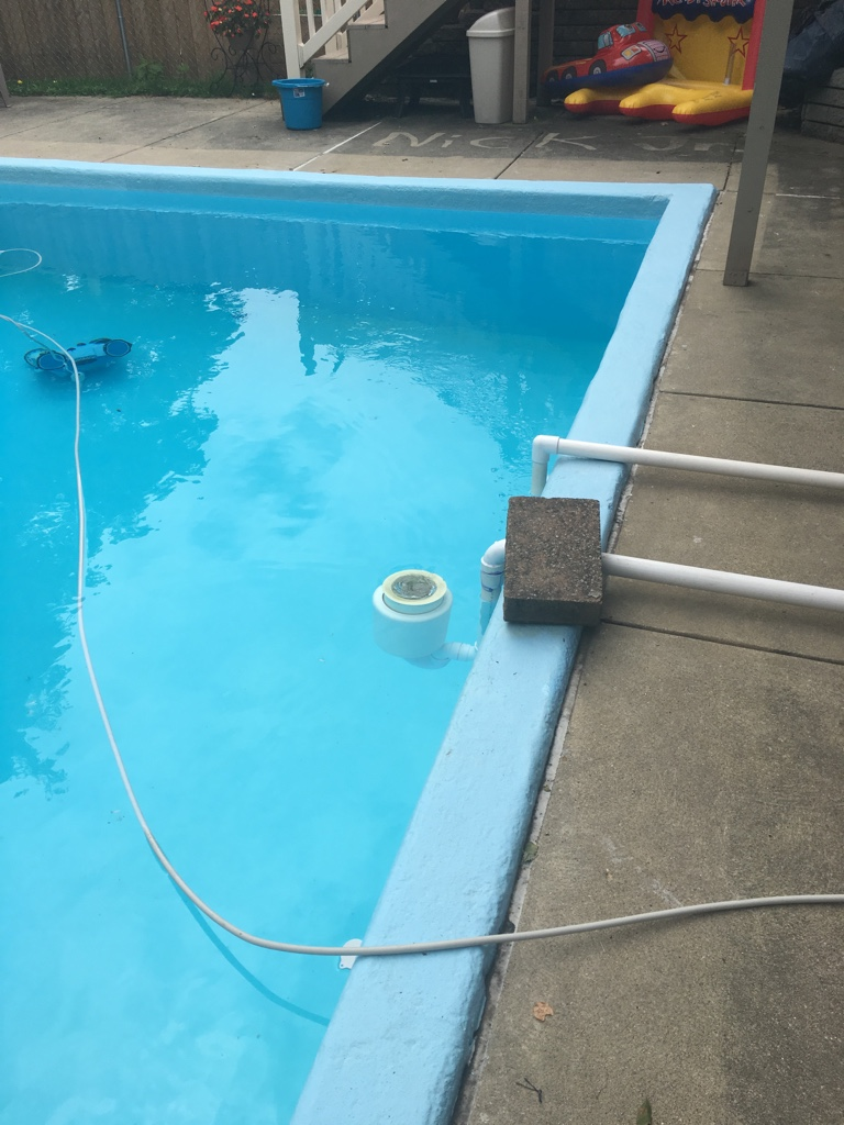 Installing a new skimmer in existing in ground pool for In ground swimming pool skimmer
