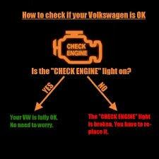 vwvortexcom check engine light   jetta