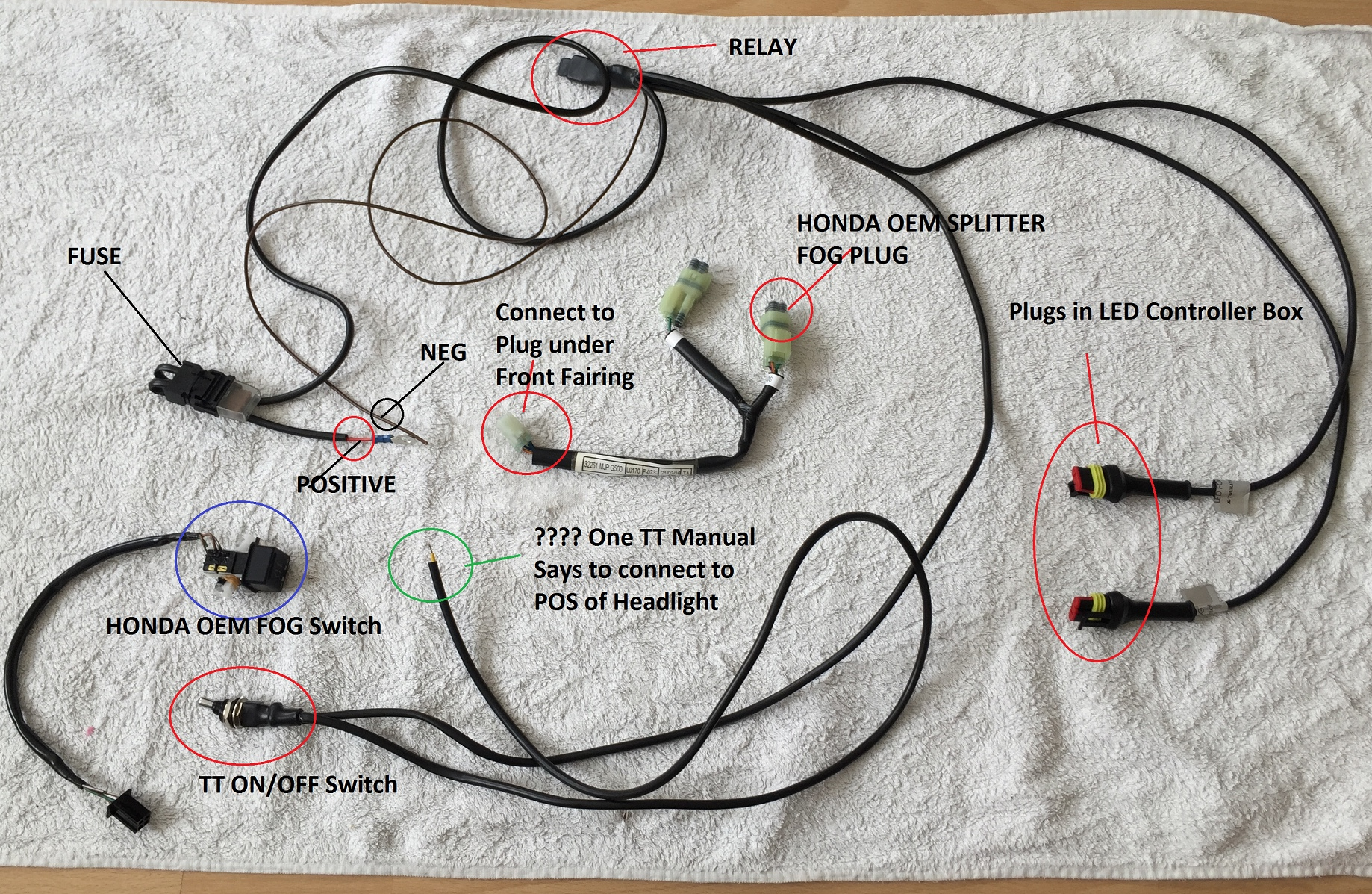 Honda Dream Yuga Wiring Diagram Library Lead 2003 Crv Fig Attached Is A Photo Of The Cable Spaghetti I Got In Tt Fog Lights Package
