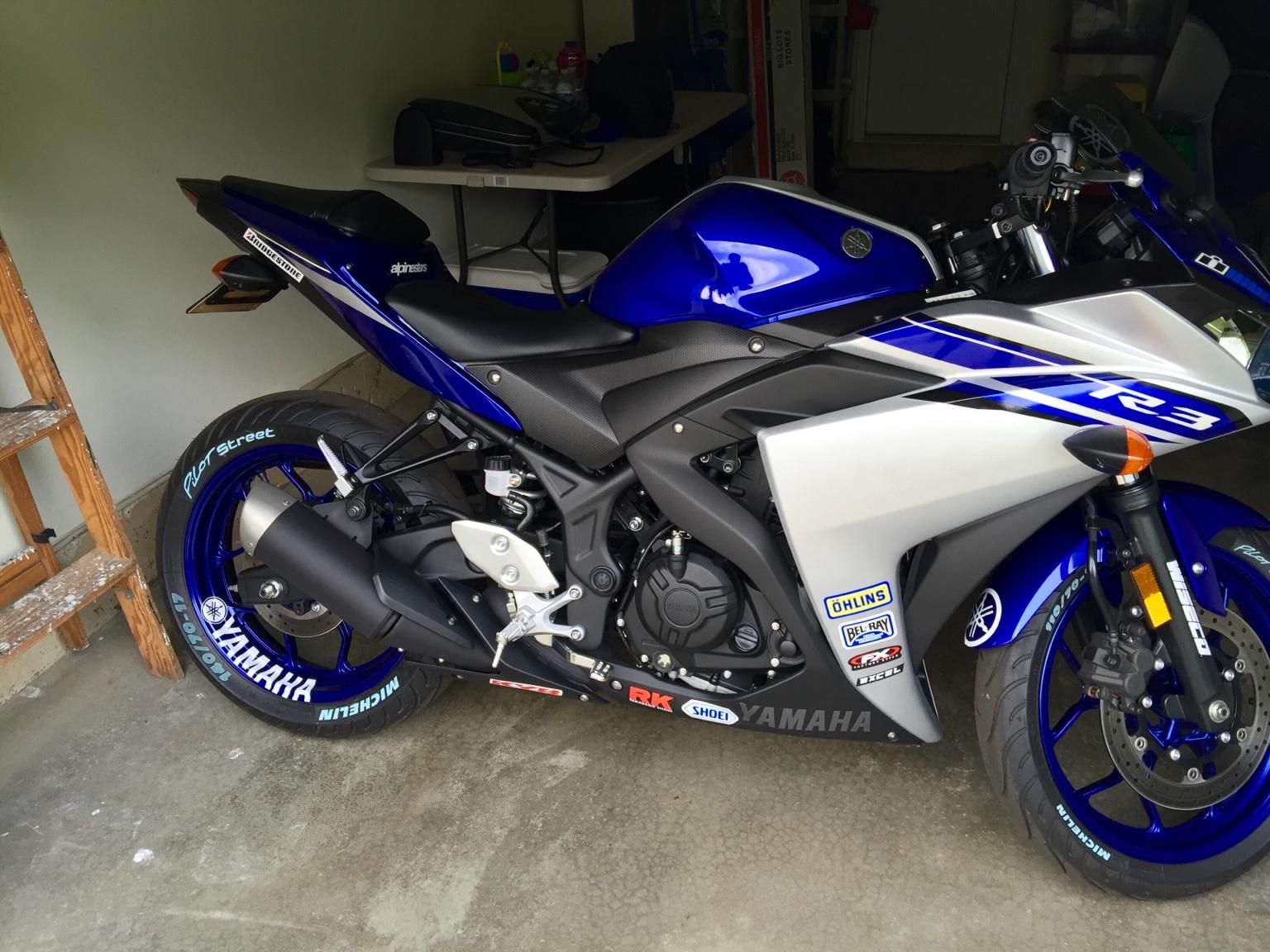 Yamaha rim decal