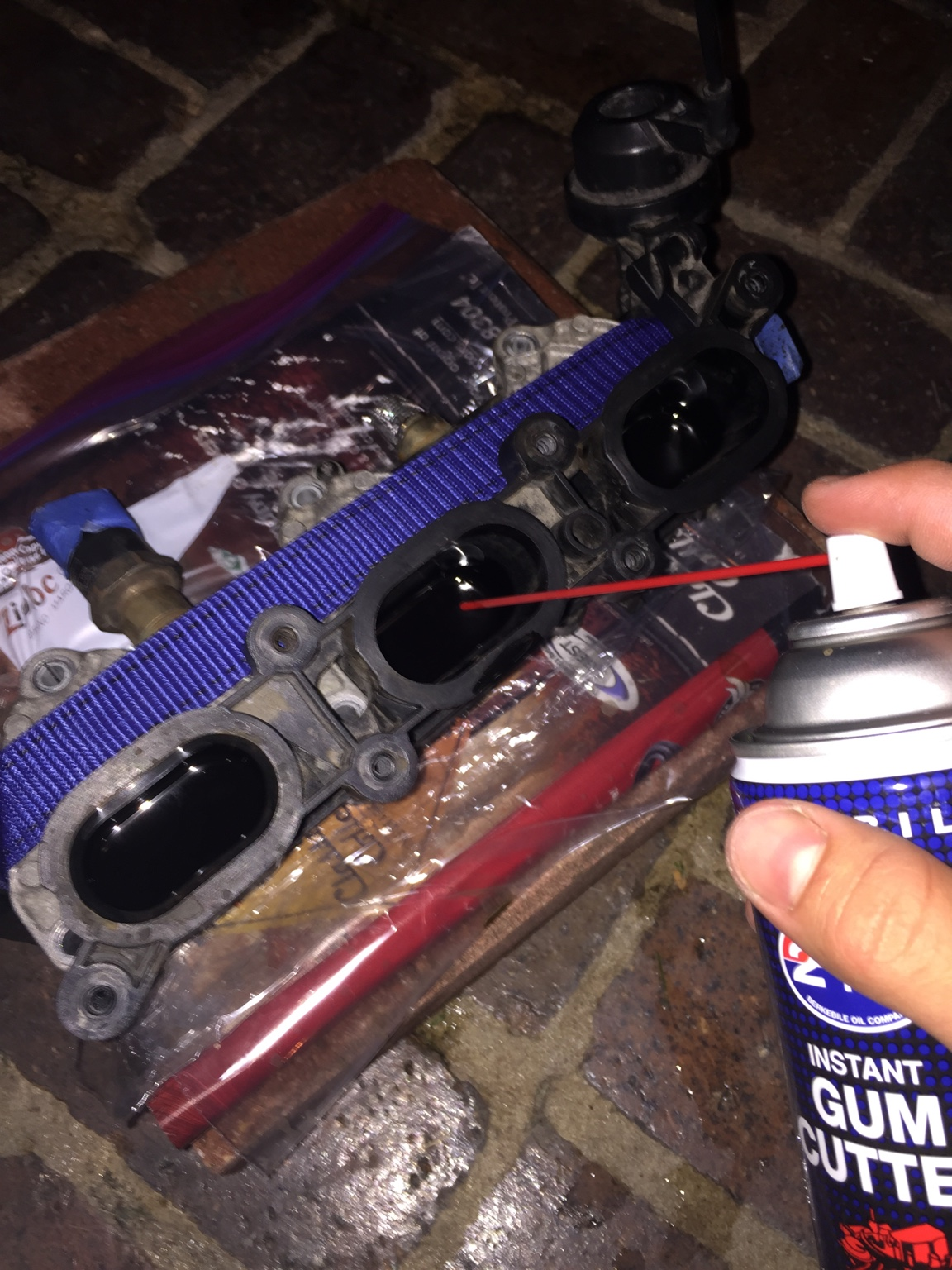 Bought A B7 A3 32 Fsi Tearing It Down For Cleaning But Have Quattroworldcom Forums Wiring To Your Coil Pack Is Likely Borked The Actual I Recommend Strapping Lower Intake Runners Flat Surface And Fill Ports With Gum Cutter Let Them Soak Like So