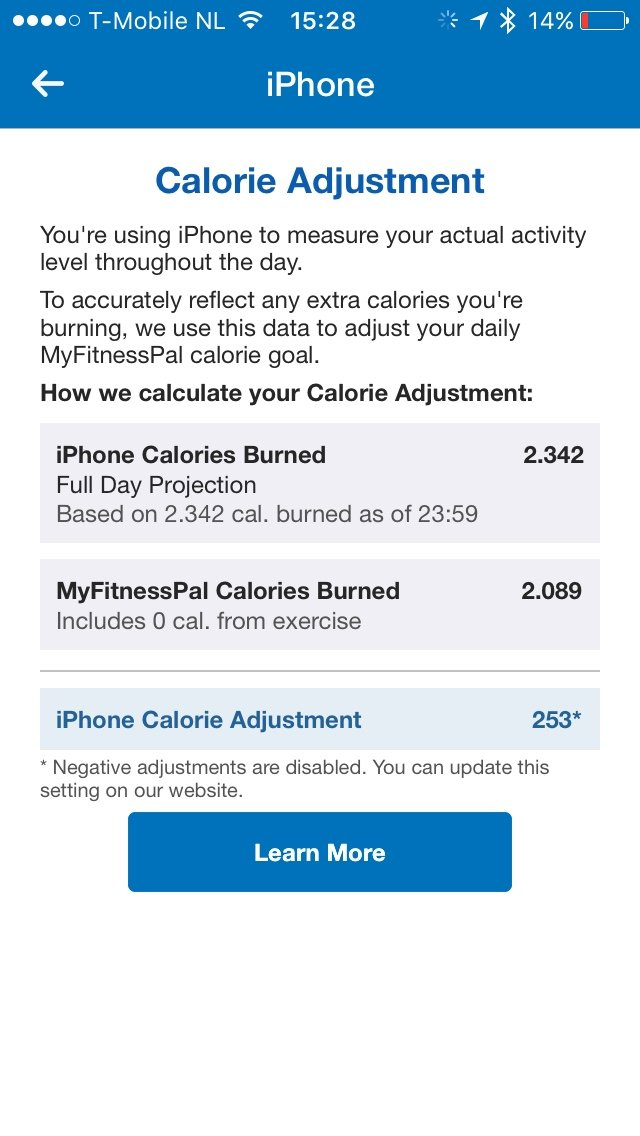 Apple Watch vs  Fitbit in combination with MyFitnessPal and