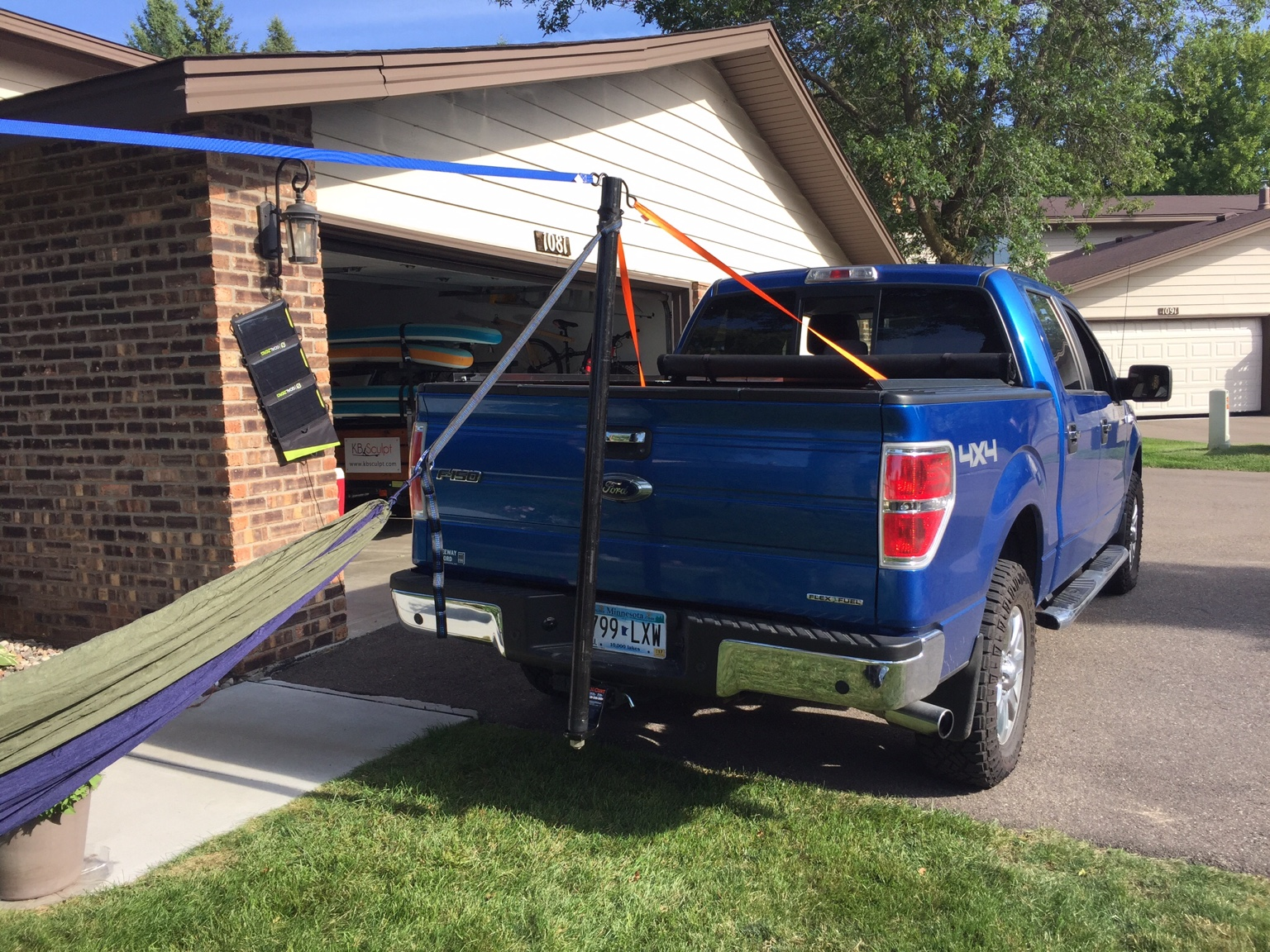 let me know if the photos worked  truck hitch hang  tree to truck hang  one tree hang   rh   hammockforums