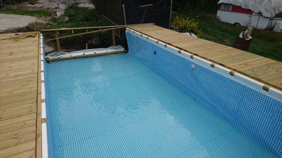 Hanging A Rectangular Intex Ultra Frame Pool Directly From