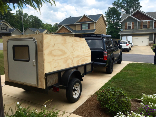 Utility trailer teardrop/ off roadish camper build | Expedition Portal