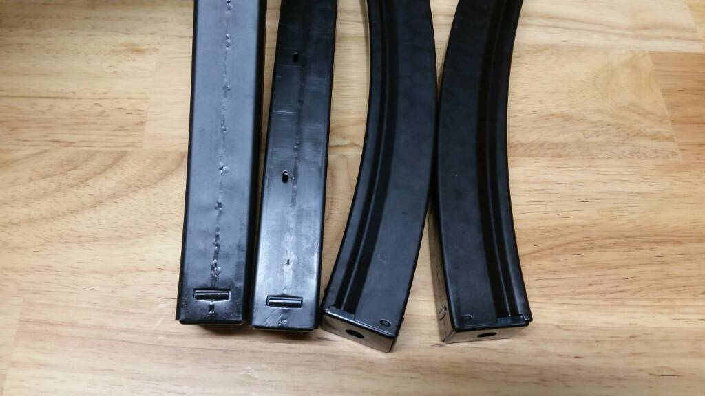 Unmarked 40 round MP5 magazines
