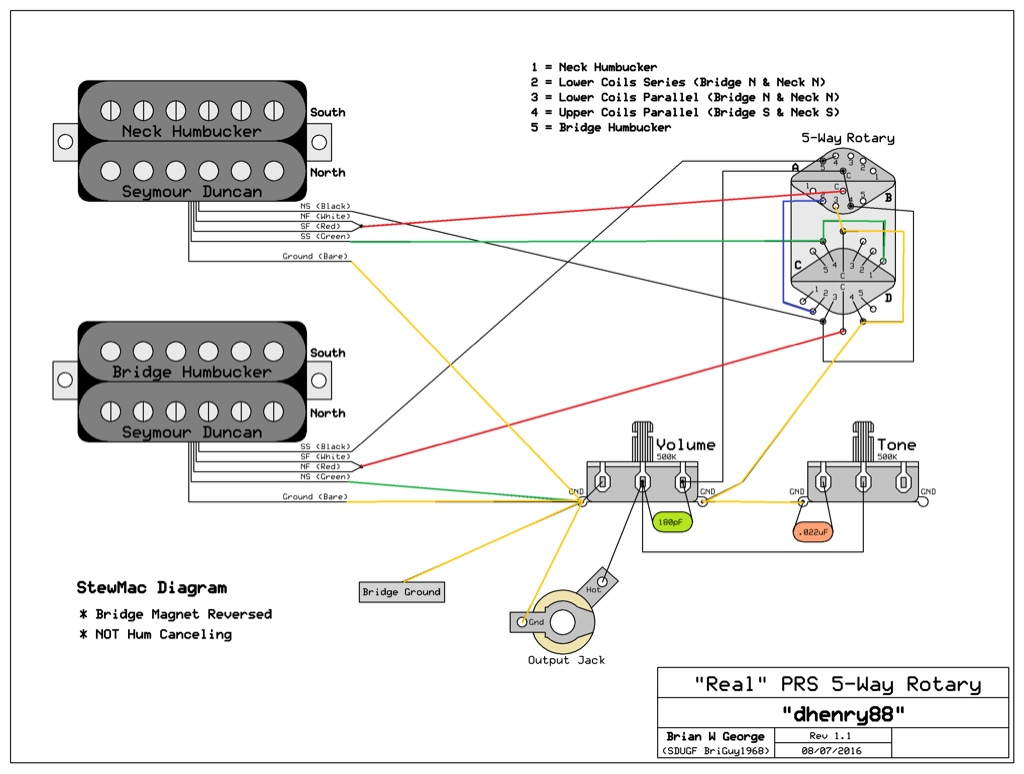 wiring diagram for rotary switch 5 way rotary help    5 way rotary help