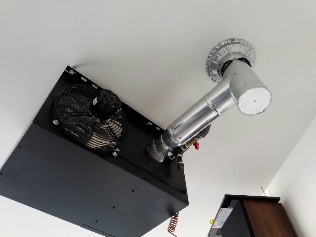 garage heater install modine hd45 diamond dawg. Black Bedroom Furniture Sets. Home Design Ideas