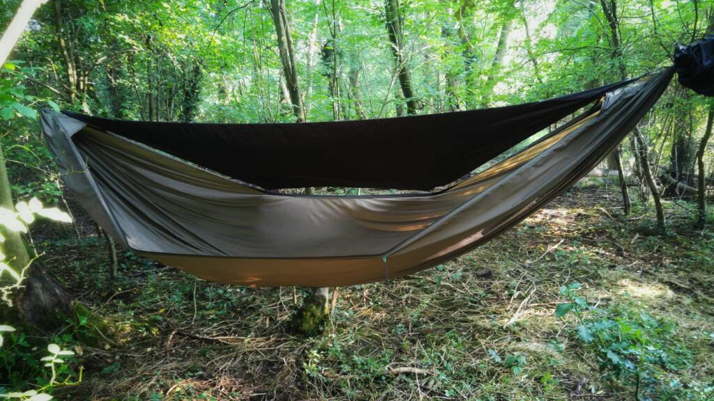 no bug   half wind shield using ridgeline support  latest hammock with cat cut wind shield  rh   hammockforums