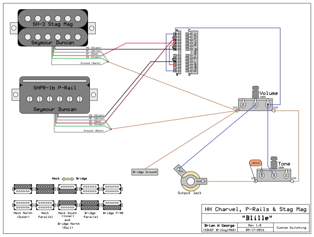 5 Way Switch Wiring For Hh Guitar