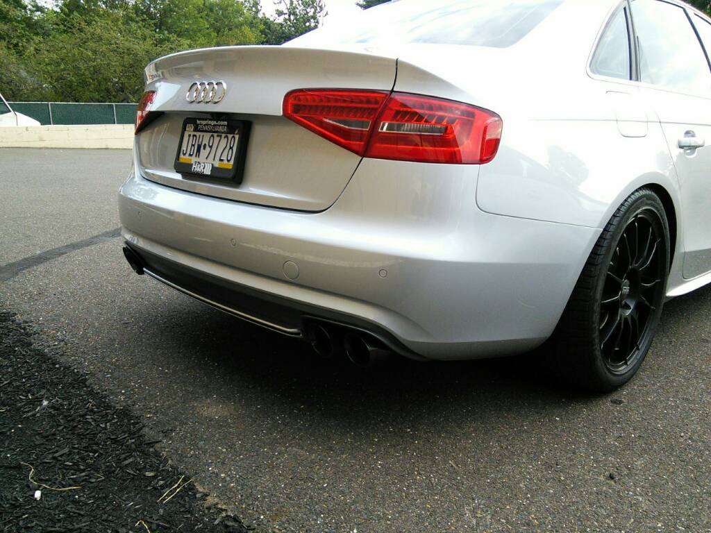 Audi A4 B85 Facelift Non S Line Rear Bumper Valancediffuser