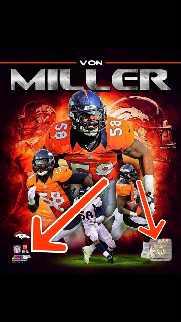 Can You Remove The Wording At Bottom Corners Except For Broncos Emblem On Von Miller Wallpaper