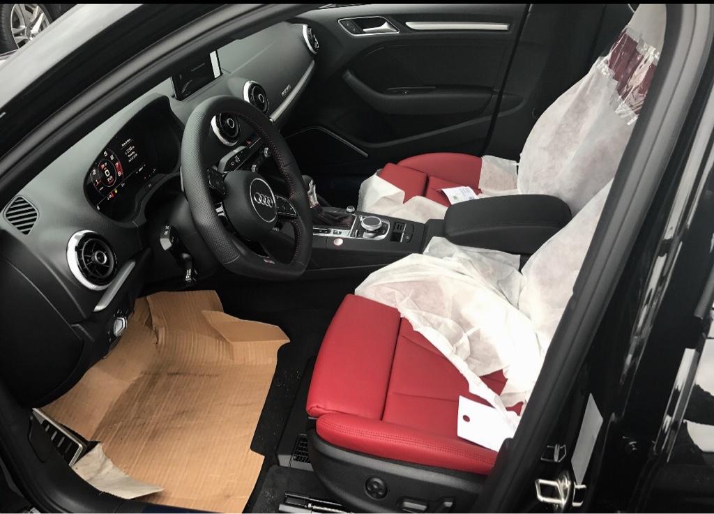 2017 Audi S3 Red Interior