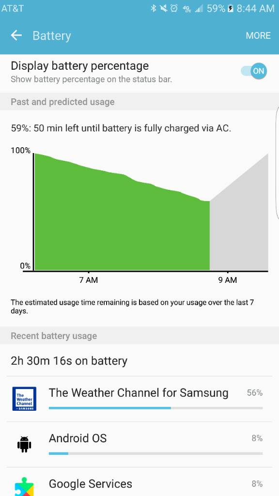INFO: Samsung Weather Channel App draining battery like