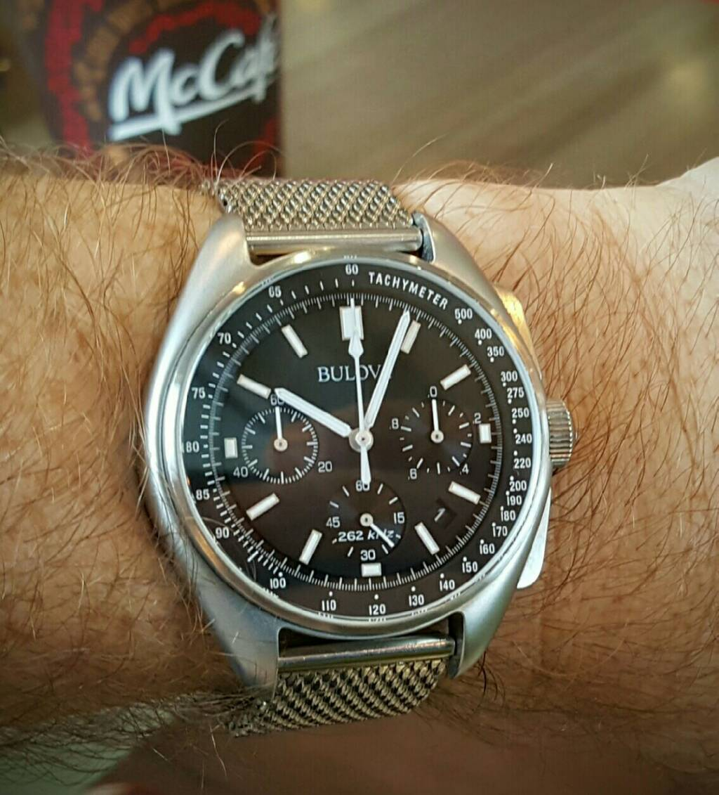 Carbon Fiber Iphone Case >> Bulova moon watch Bracelet edition on aftermarket straps