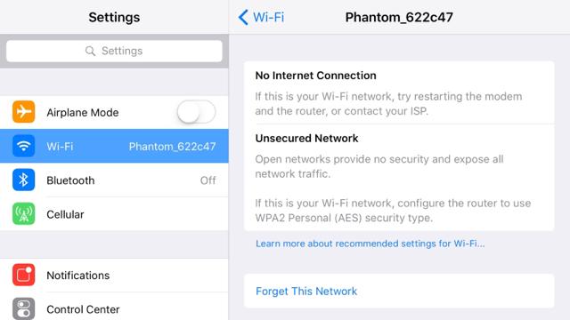Can T Connect To Phantom Wifi Network Dji Phantom Drone Forum