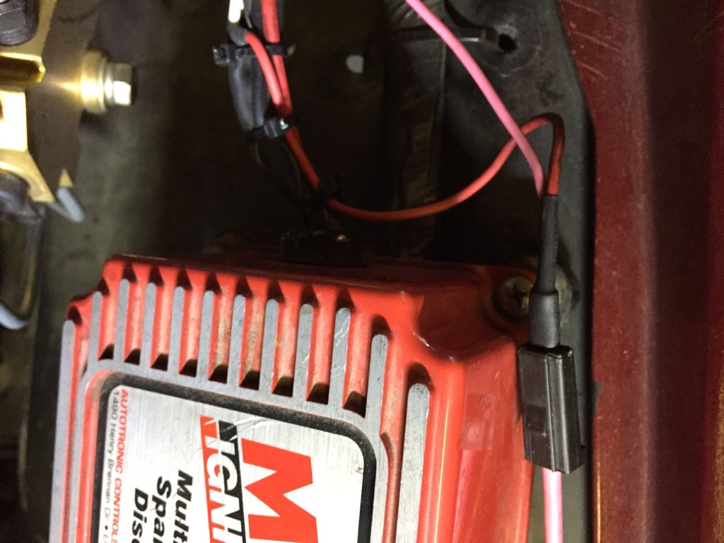 E Street 2 Write Up Chevelle Tech Tach To Msd 6al Wiring 12 Volt When Cranking Connection Shared With The Box