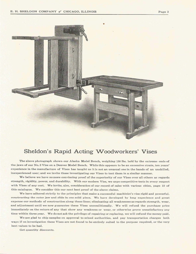 1900 S To 1920 S Wood Bench With Vise Anybody Know It S
