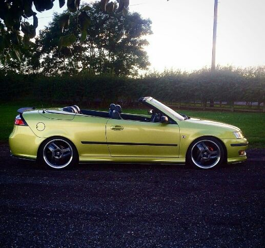 Costume 2006 Saab 9 2x Linear: Lime 9-3 Ragtop In Atlanta Joining Up