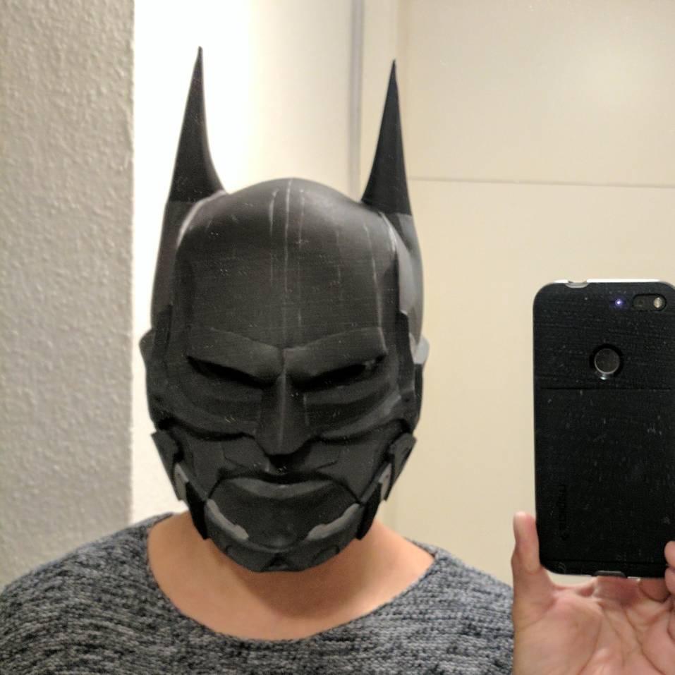 Finished Batman Beyond Helmet Arkham Knight Version