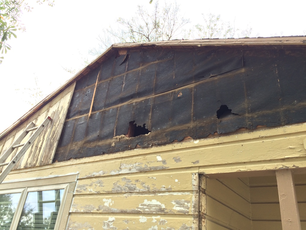 Rotting Board Amp Batten On Gable End Roofing Siding Diy