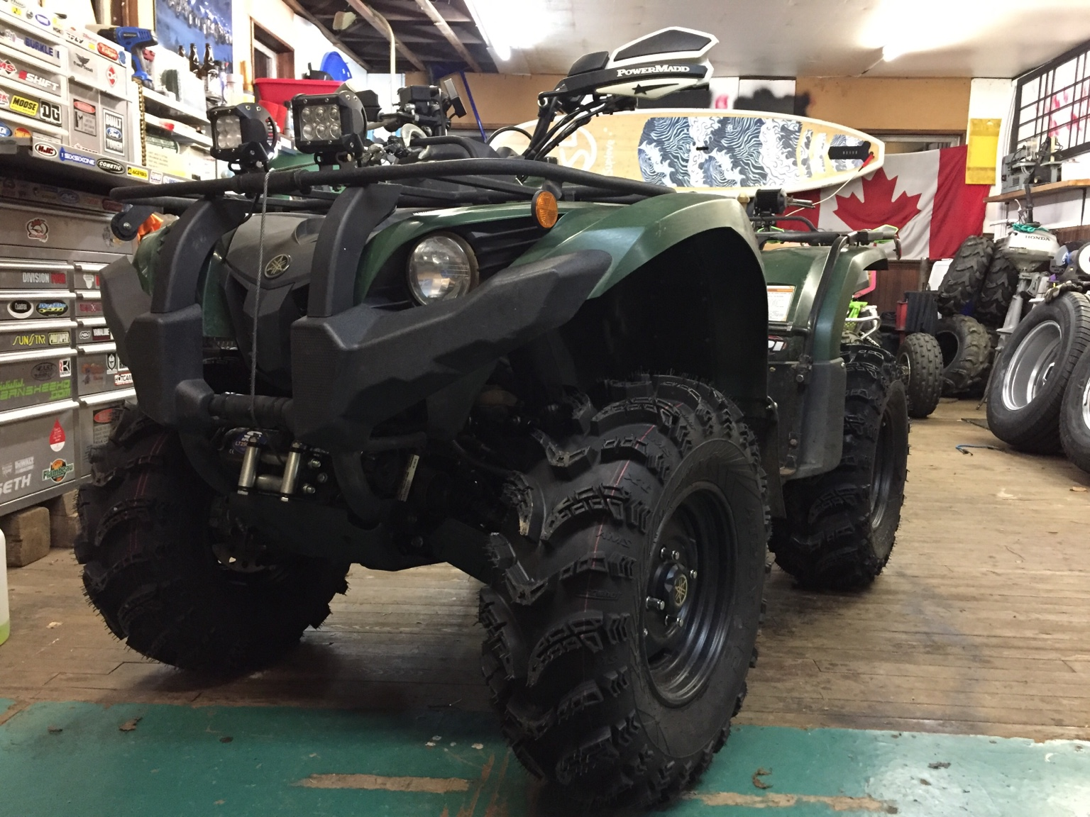 """Yamaha Grizzly 450 >> Kodiak 450 with 26"""" AMS Slingshots - Grizzly Riders ..."""