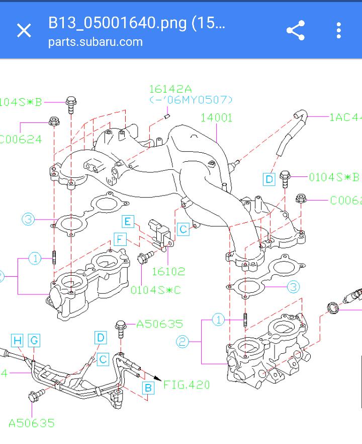 Ej253 Air Intake Differences  - Subaru Outback