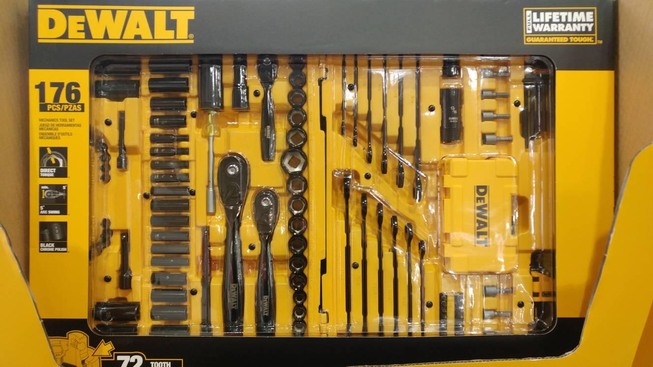 dewalt 176 piece mechanics set 99 at costco the garage journal board. Black Bedroom Furniture Sets. Home Design Ideas