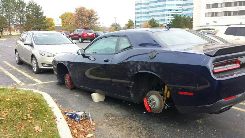 Stolen Hellcat Wheels Not My Car