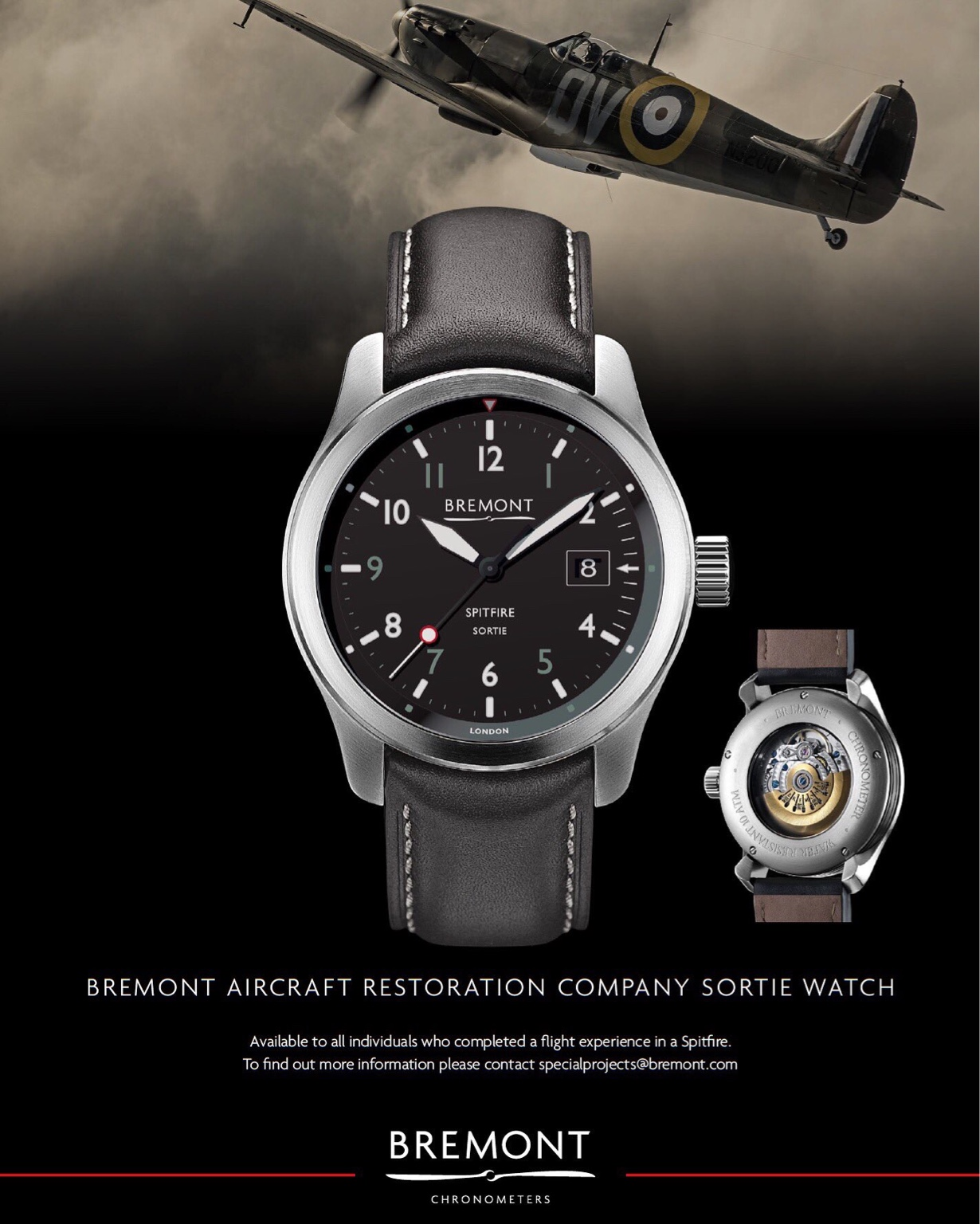 New Spitfire Watches from Partnership with Aircraft