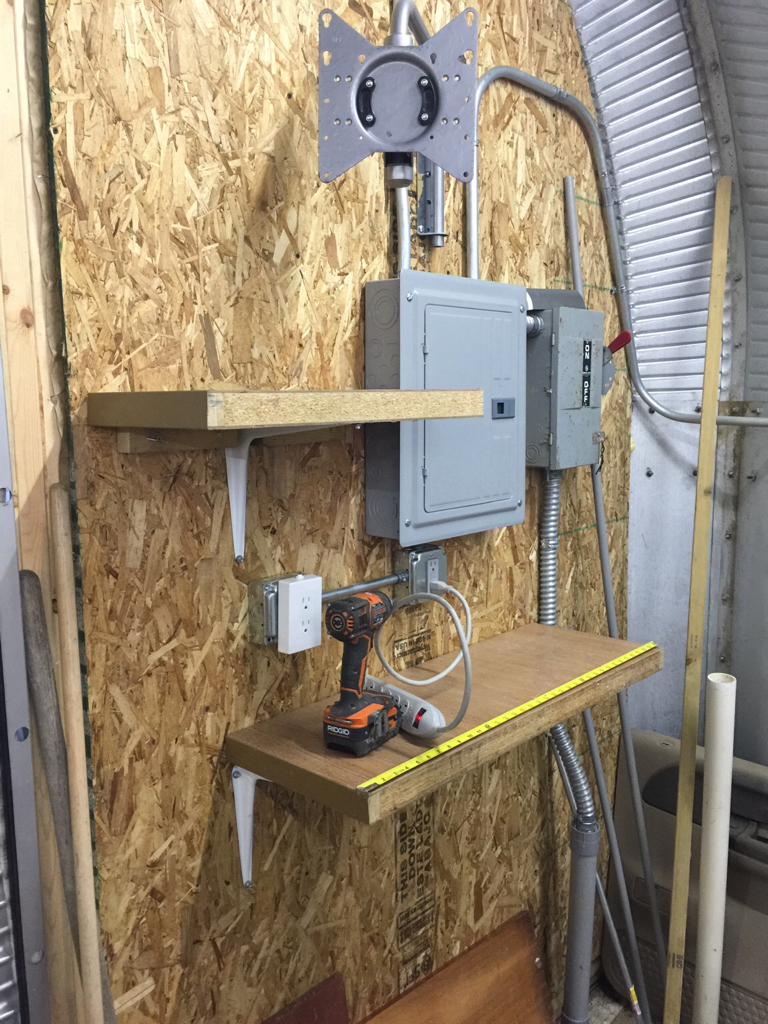 Quanset Hut Garage Build Page 6 The Journal Board Pole Barn Wiring Http Wwwgaragejournalcom Forum Showthreadphpp Added Some Shelves