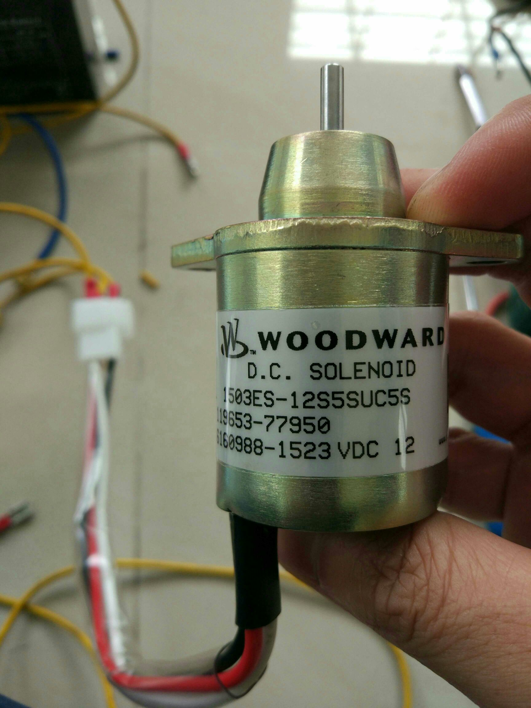 Fuel Stop Solenoid Woodward Electrician Talk Professional 12 Volt Wiring Diagram 5 Connection I Dont Know If This Is Normal But The Was Newly Made According To It Really Supposed Get Hot 1 Hour Hold Still Holdable