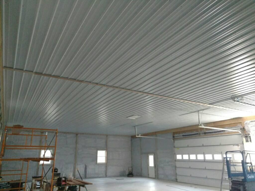 Vapor Barrier Between Metal Ceiling And
