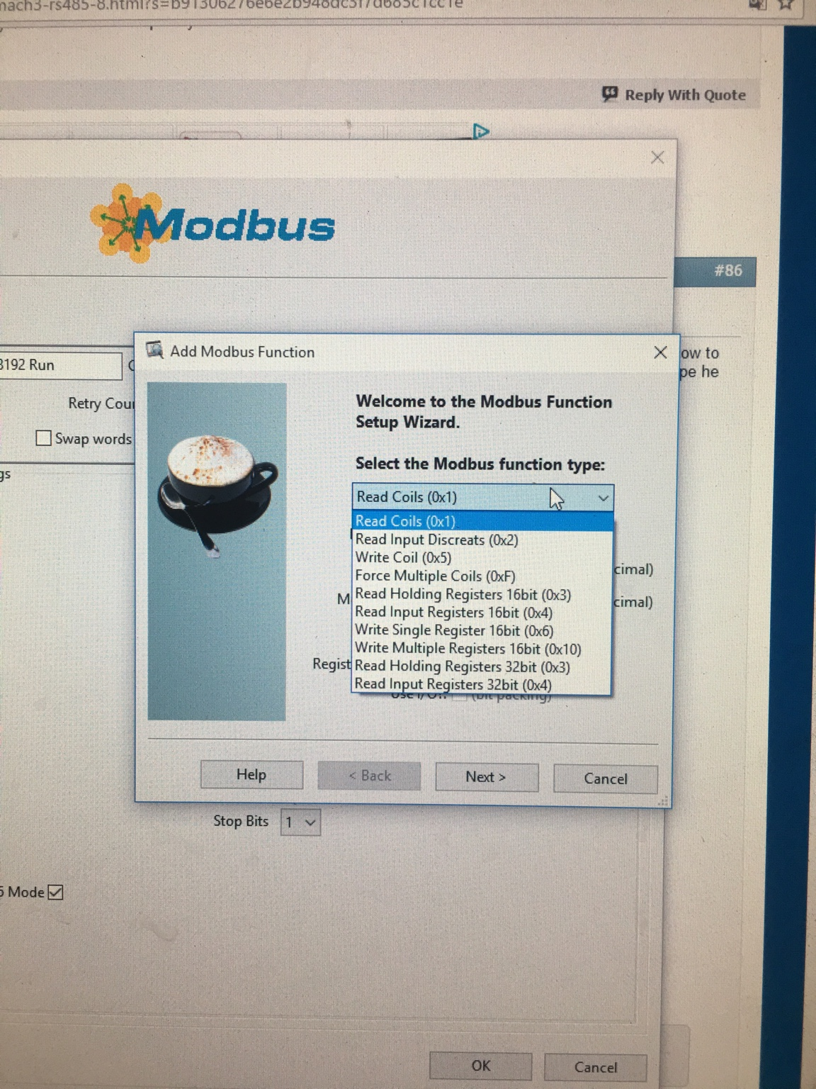 Spindles / VFD > Machtric S800E Mach4 Modbus configuration
